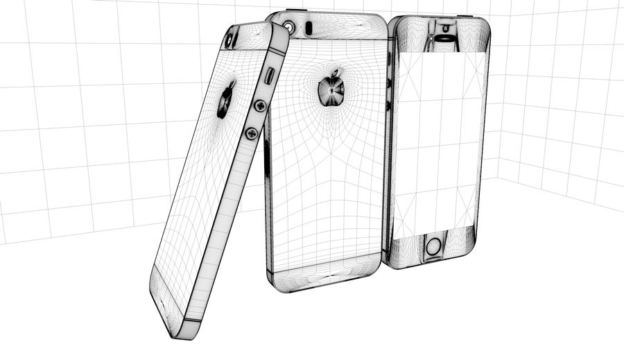 iPhone 5S royalty-free 3d model - Preview no. 4