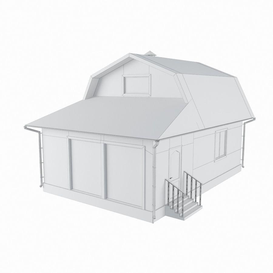 목재 집 royalty-free 3d model - Preview no. 5