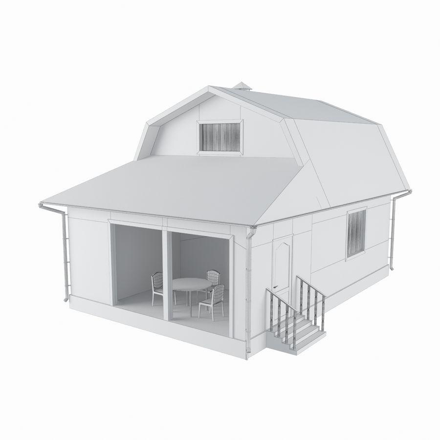 목재 집 royalty-free 3d model - Preview no. 6