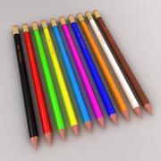 铅笔套装 3d model