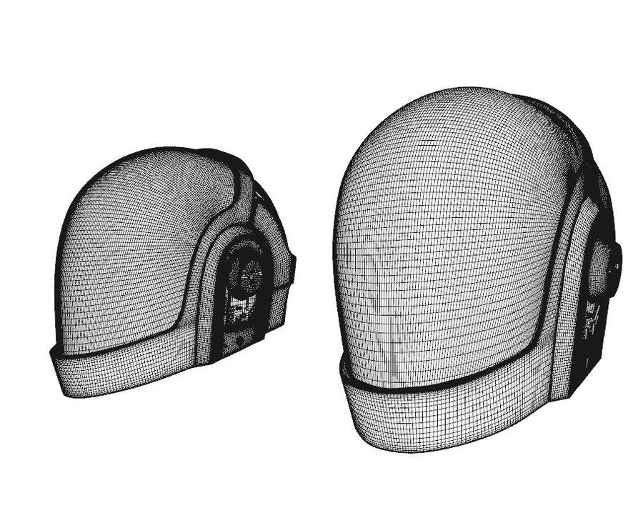 Guy Helmet - Daft Punk royalty-free modelo 3d - Preview no. 5