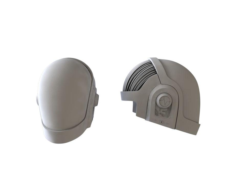 Guy Helmet - Daft Punk royalty-free modelo 3d - Preview no. 4