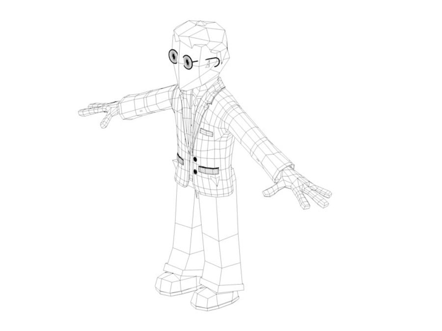 Cartoon character royalty-free 3d model - Preview no. 2