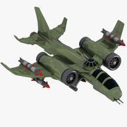 Cartoon Fighter Aircraft 3 3d model
