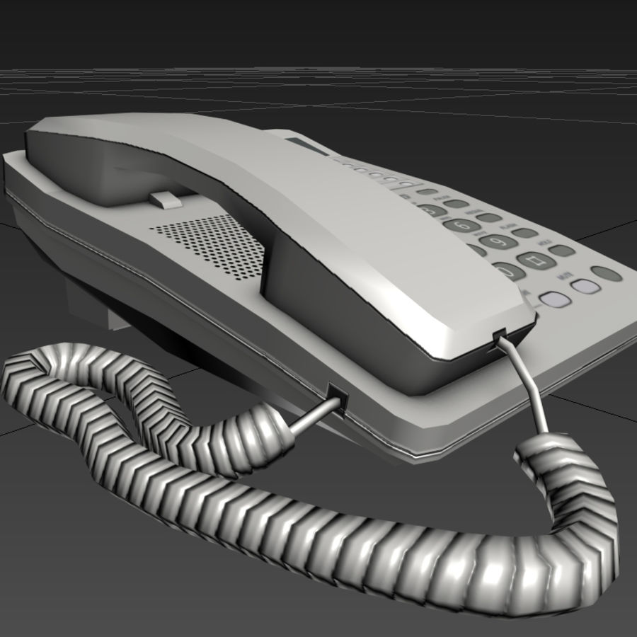 Telefone royalty-free 3d model - Preview no. 4