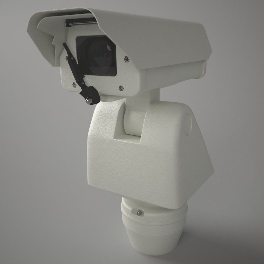 Surveillance Camera with wiper royalty-free 3d model - Preview no. 1