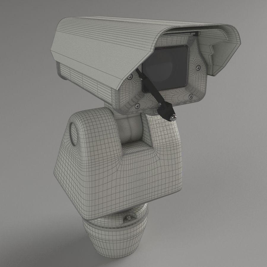 Surveillance Camera with wiper royalty-free 3d model - Preview no. 5