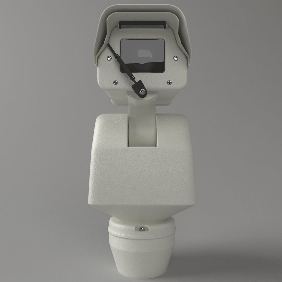 Surveillance Camera with wiper royalty-free 3d model - Preview no. 2
