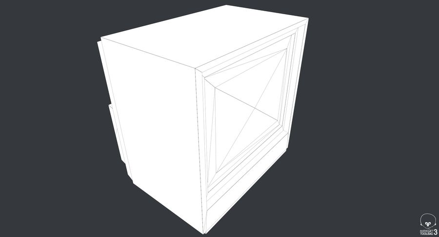 Old TV royalty-free 3d model - Preview no. 9