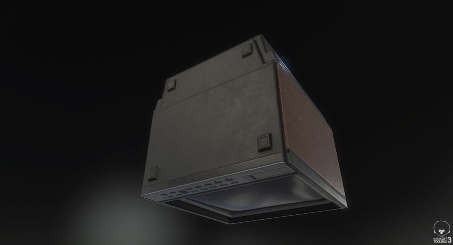 Old TV royalty-free 3d model - Preview no. 7