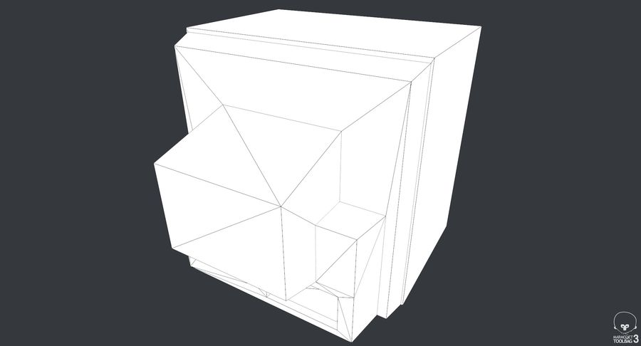 Old TV royalty-free 3d model - Preview no. 10