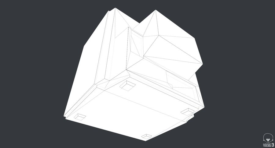 Old TV royalty-free 3d model - Preview no. 11