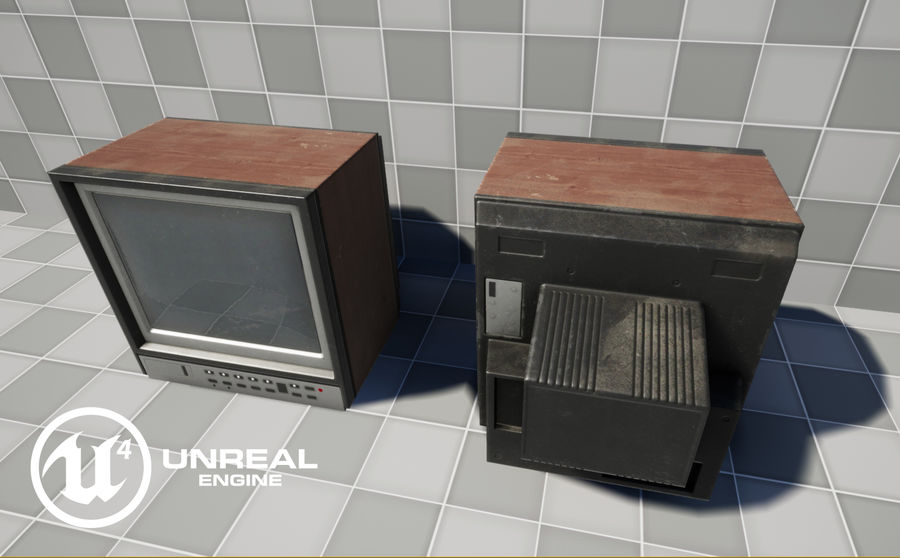 Old TV royalty-free 3d model - Preview no. 12