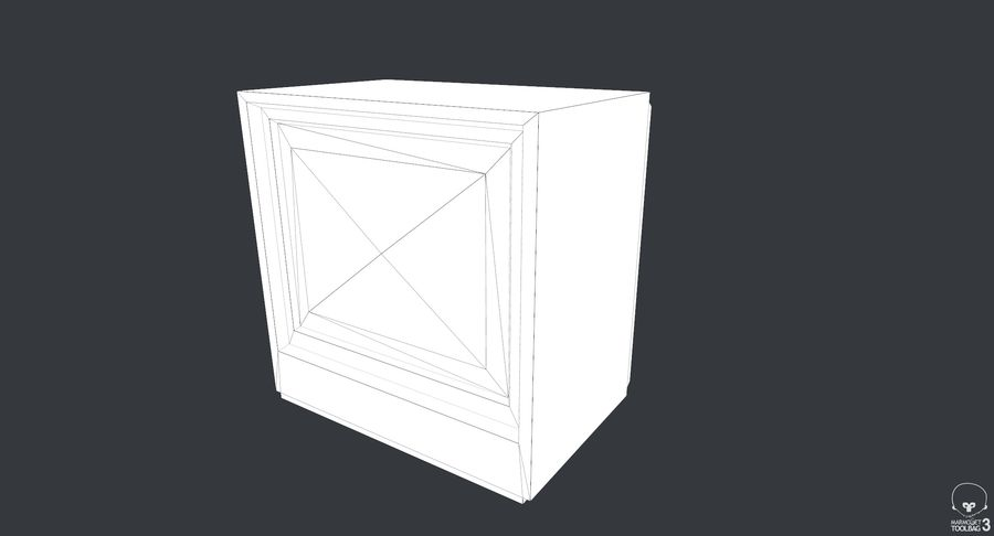 Old TV royalty-free 3d model - Preview no. 8