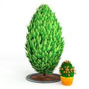 Toon shrub 1 3d model