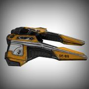 宇宙船低ポリ 3d model