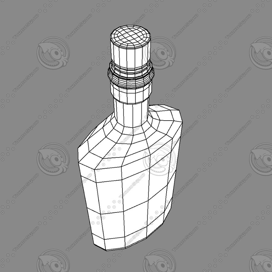 Alcohol Bottle royalty-free 3d model - Preview no. 3