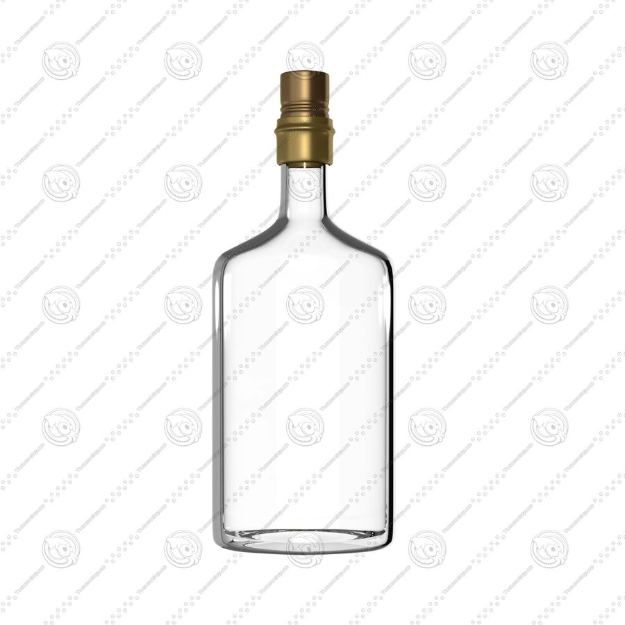 Alcohol Bottle royalty-free 3d model - Preview no. 1