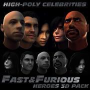 Fast & Furious 3D Pack 3d model