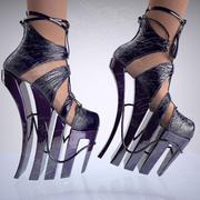 Naakte schoen 3d model