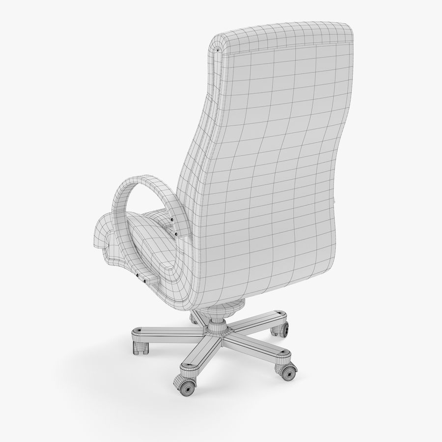 Office Boss Armchair royalty-free 3d model - Preview no. 6