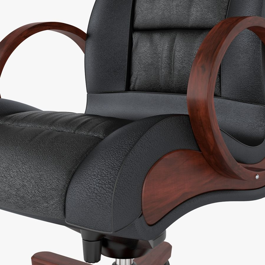 Office Boss Armchair royalty-free 3d model - Preview no. 4