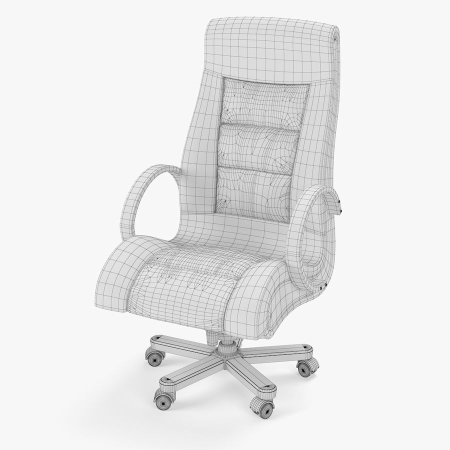 Office Boss Armchair royalty-free 3d model - Preview no. 5