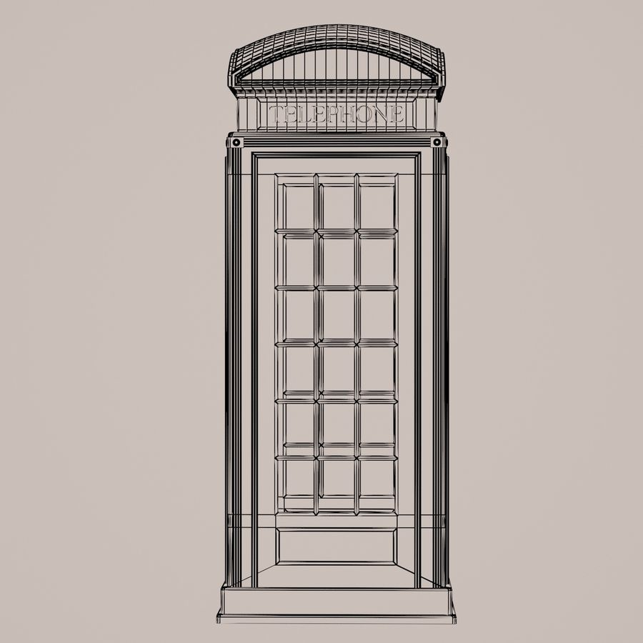 Telephone Box royalty-free 3d model - Preview no. 4