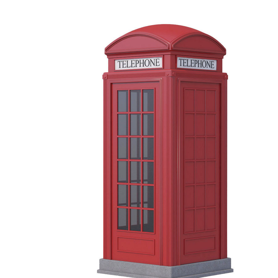 Telephone Box royalty-free 3d model - Preview no. 7