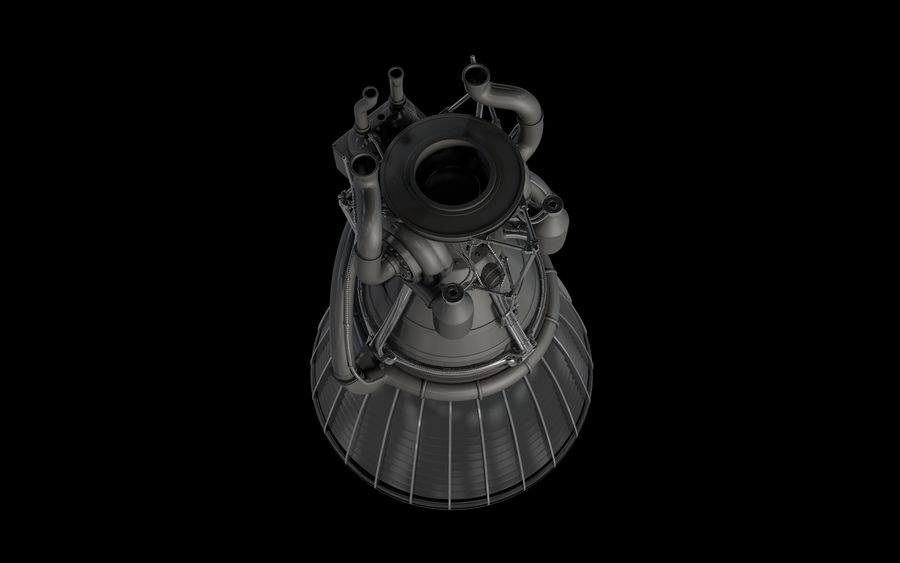 Rocket Motor Engine royalty-free 3d model - Preview no. 5