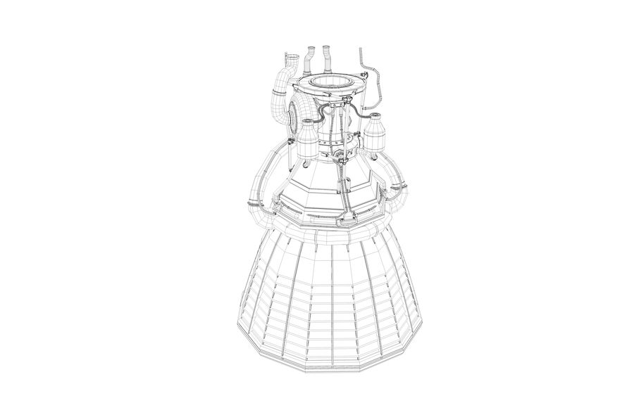 Rocket Motor Engine royalty-free 3d model - Preview no. 6