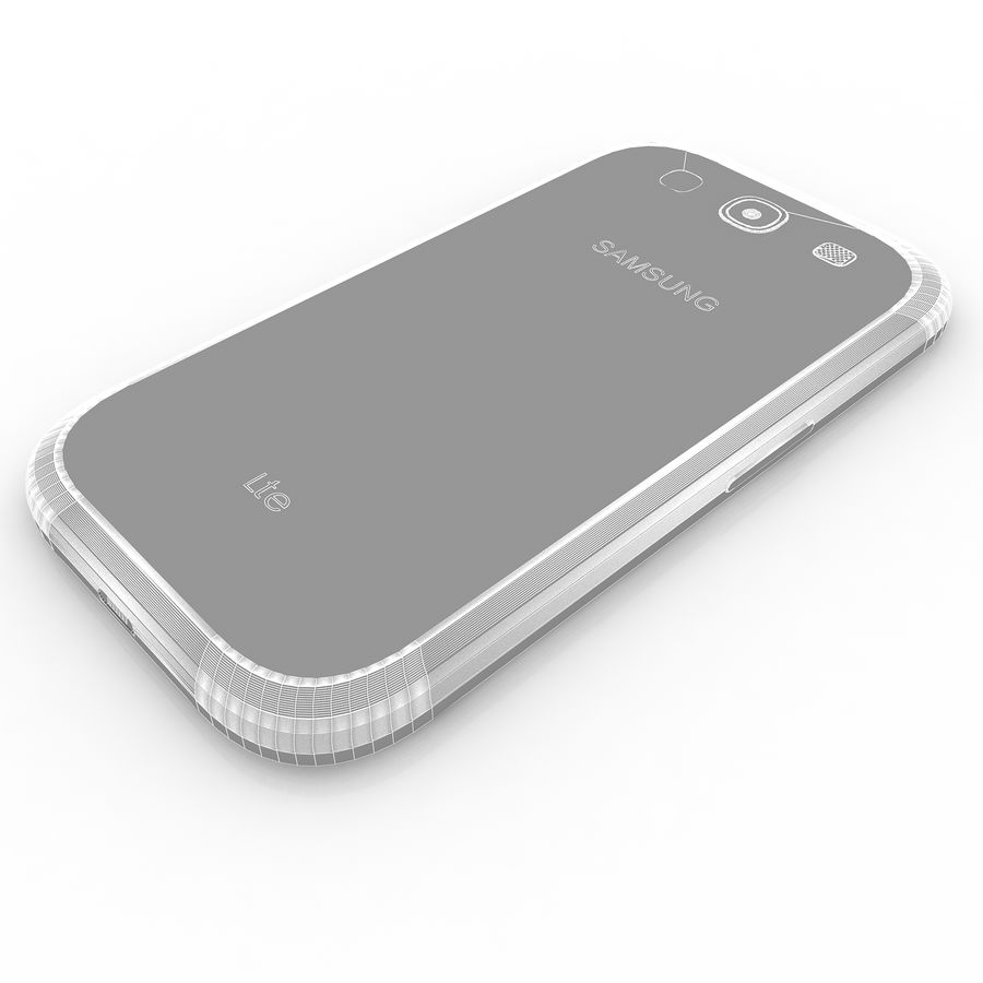 Samsung I9300I Galaxy S3 Neo royalty-free 3d model - Preview no. 11