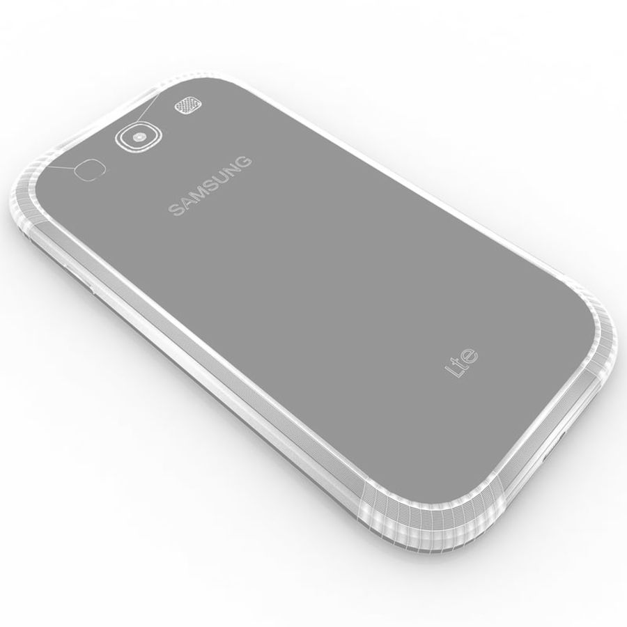 Samsung I9300I Galaxy S3 Neo royalty-free 3d model - Preview no. 10