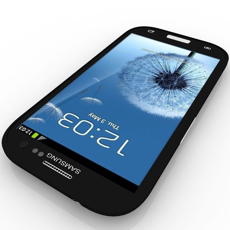 Samsung I9300I Galaxy S3 Neo royalty-free 3d model - Preview no. 4