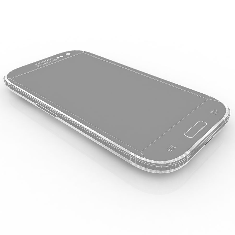 Samsung I9300I Galaxy S3 Neo royalty-free 3d model - Preview no. 13