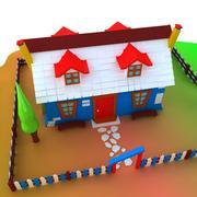 Litet hus 3d model