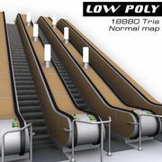 에스컬레이터 지하철 3d model