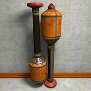 Grenade à boulon d'arbalète de querelle explosive 3d model