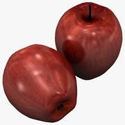 빨간 맛있는 사과 3d model
