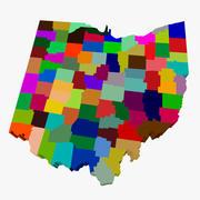 俄亥俄州地图 3d model
