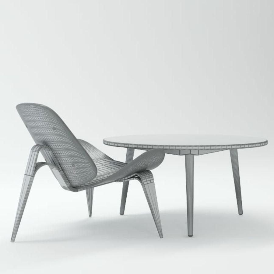 Hans Wegner royalty-free 3d model - Preview no. 10