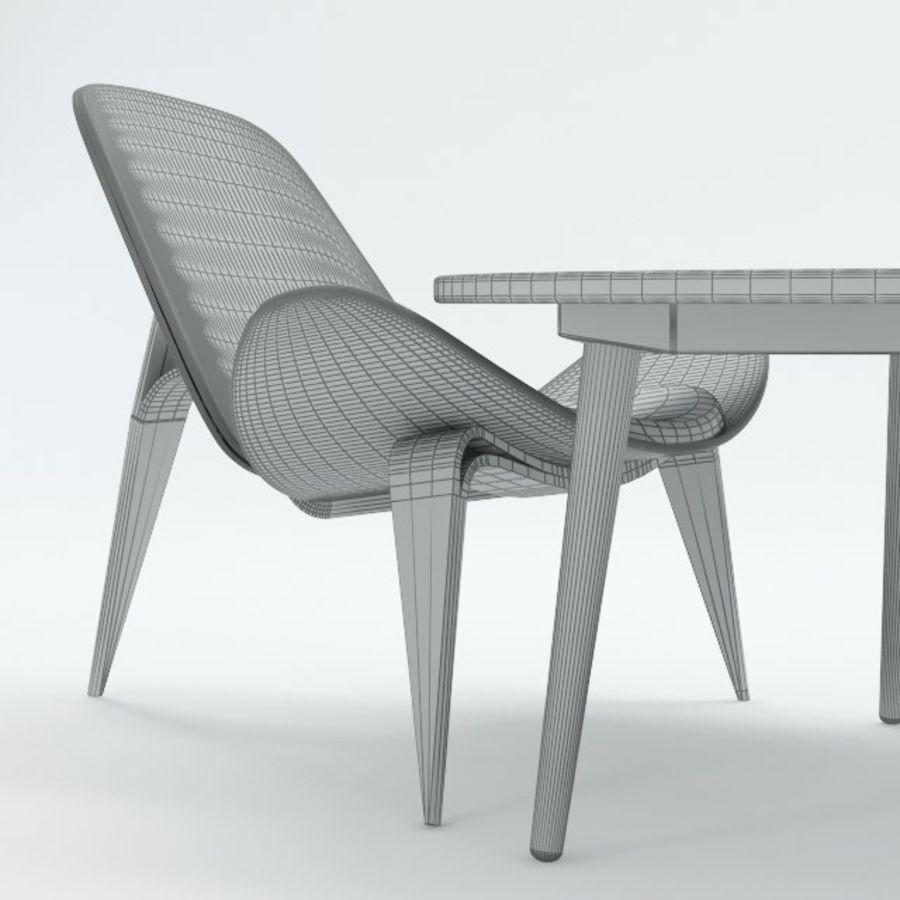 Hans Wegner royalty-free 3d model - Preview no. 11