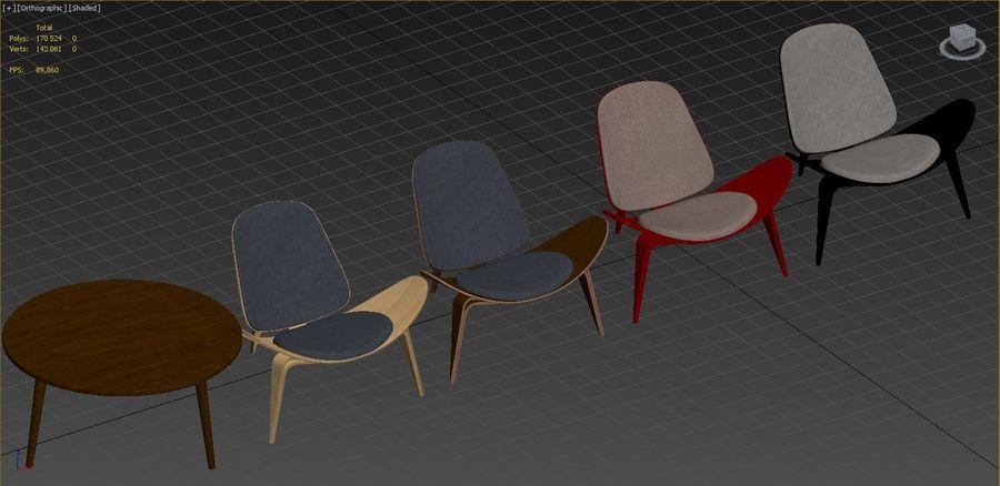 Hans Wegner royalty-free 3d model - Preview no. 13