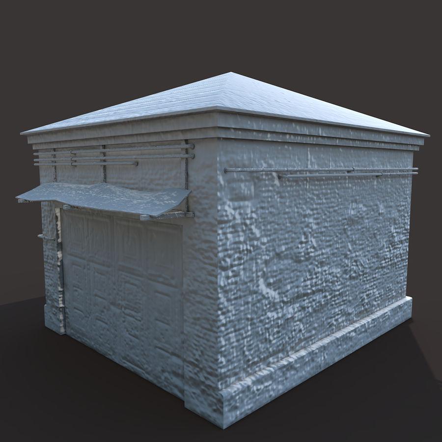 Edificio en ruinas royalty-free modelo 3d - Preview no. 8
