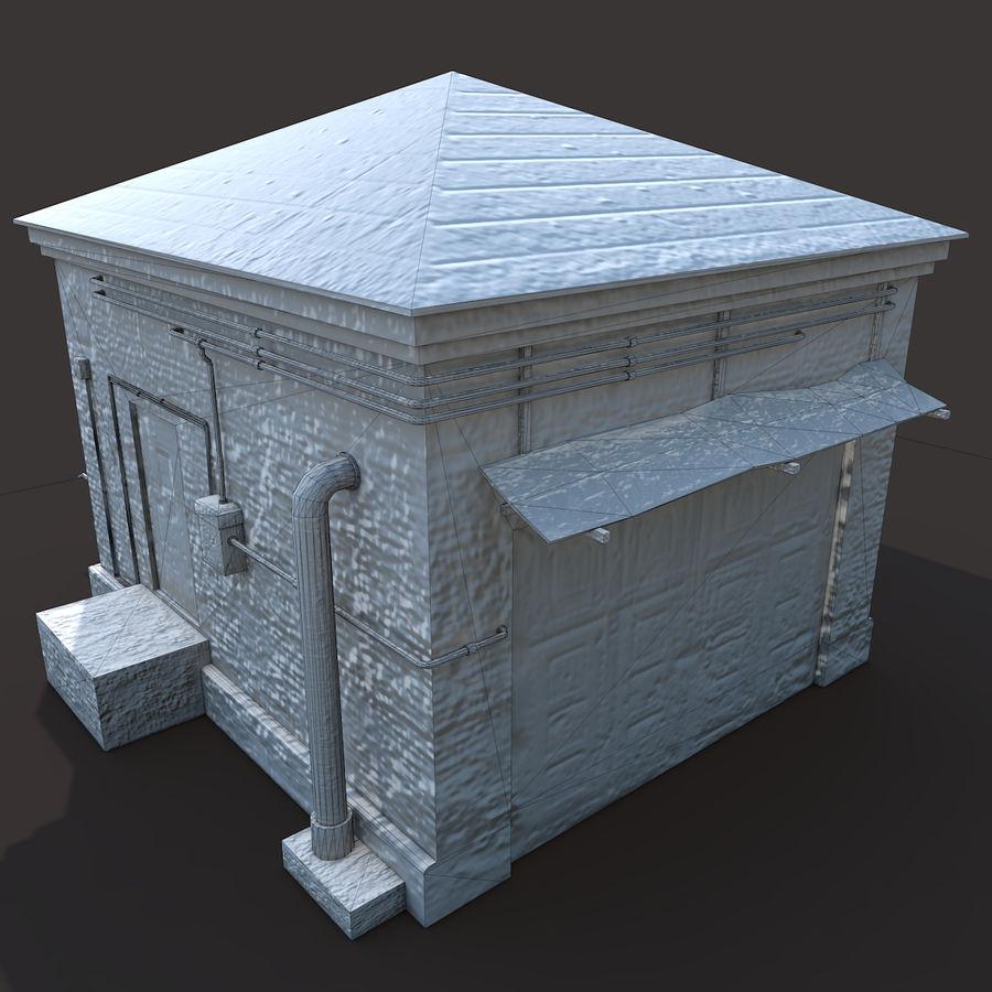Edificio en ruinas royalty-free modelo 3d - Preview no. 10