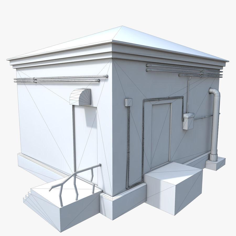 Edificio en ruinas royalty-free modelo 3d - Preview no. 11