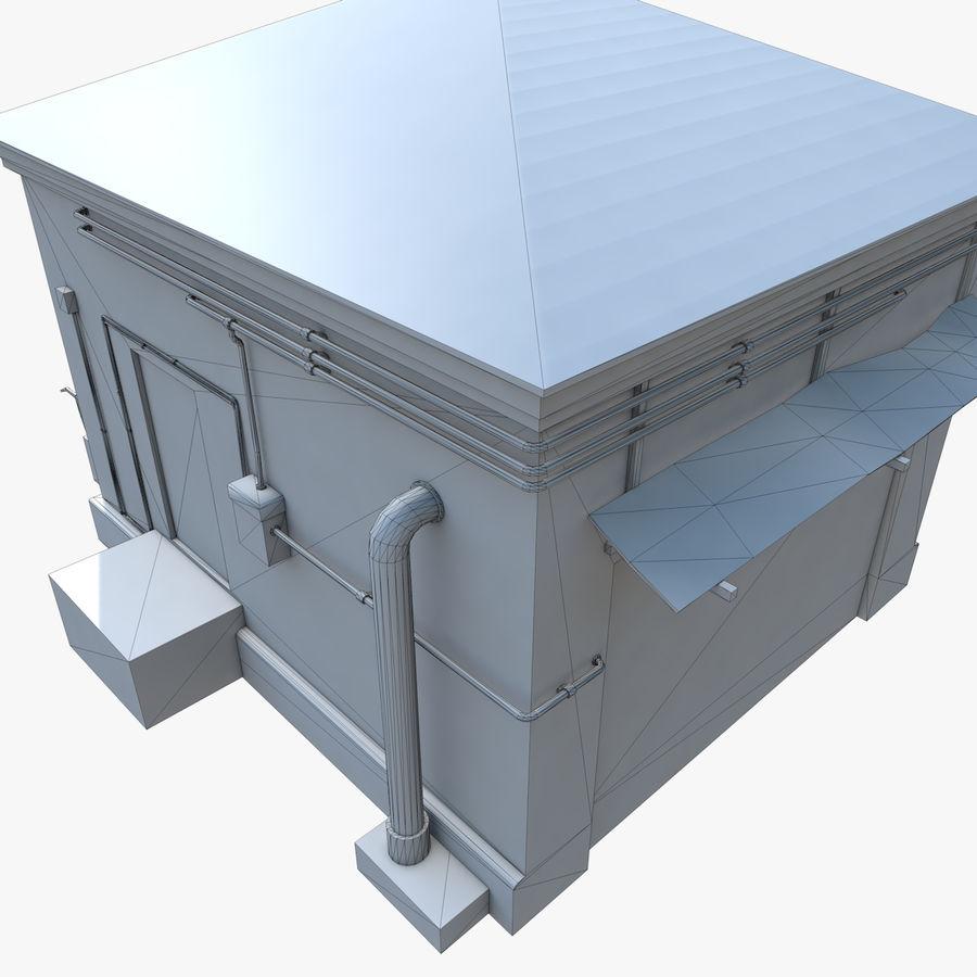 Edificio en ruinas royalty-free modelo 3d - Preview no. 12