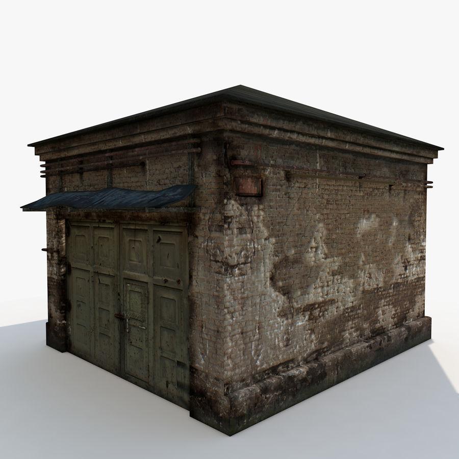 Edificio en ruinas royalty-free modelo 3d - Preview no. 4