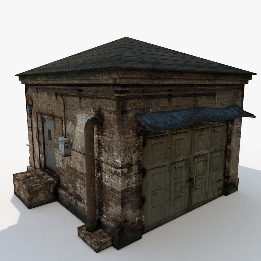 Edificio en ruinas royalty-free modelo 3d - Preview no. 3