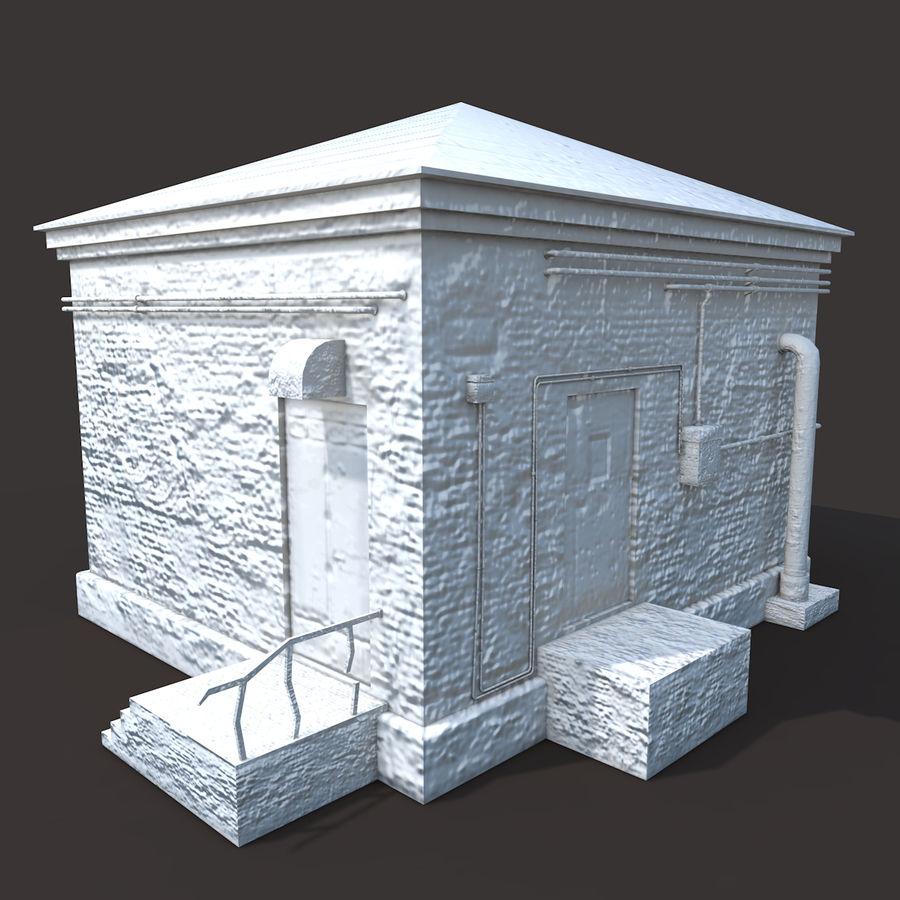 Edificio en ruinas royalty-free modelo 3d - Preview no. 7
